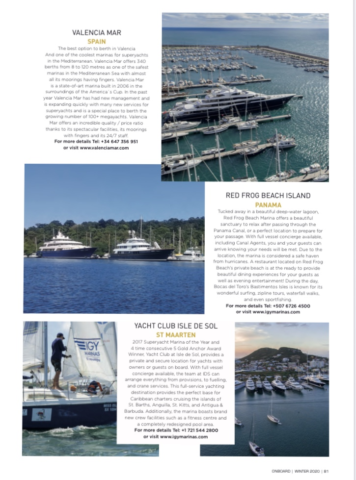 Valencia Mar in ONBOARD Magazine 1